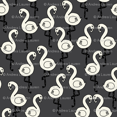 wonderland flamingo // fairy tale coordinating alice in wonderland bird print