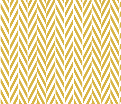 Mustard Herringbone 90 fabric by mrshervi on Spoonflower - custom fabric