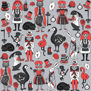 alice in wonderland // fairy tale cat mad hatter alice girls cosplay fairytale fabric andrea lauren fabric story illustration pattern