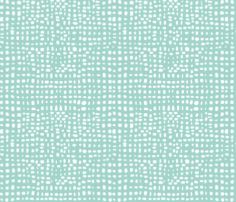 weave // grid kids nursery baby mint and white baby coordinate fabric by andrea_lauren on Spoonflower - custom fabric