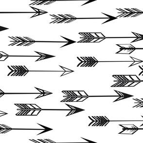 arrows // black and white kids nursery baby