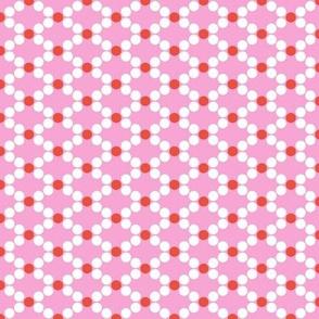 Garland (Pink) || Christmas holiday tree diamond polka dot lattice geometric peppermint