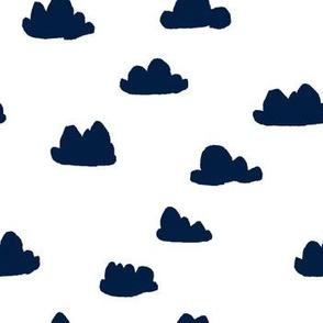 clouds // navy blue kids nursery baby kids coordinate
