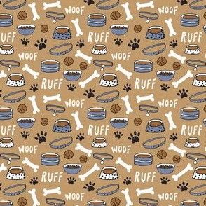 dog bowls // cute dog bone dog bowl woof paw print cute dogs coordinate print