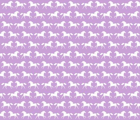 horses // purple pastel girly print horse little girls illustration pattern fabric by andrea_lauren on Spoonflower - custom fabric