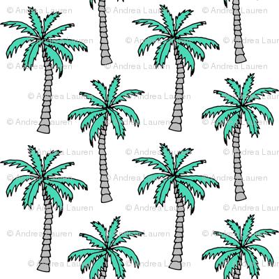 palm tree // summer tropical nursery kids summer palms plant print