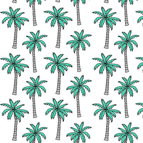 palm tree // summer tropical nursery kids summer palms plant print fabric by andrea_lauren on Spoonflower - custom fabric