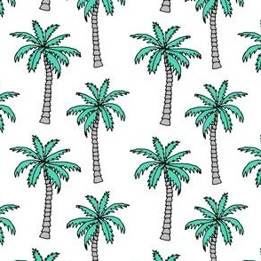 palm tree // summer tropical nursery kids summer palms plant print