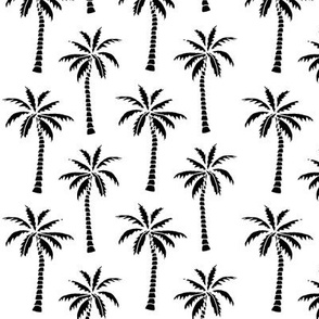 palm tree // black and white kids nursery summer tree palms print