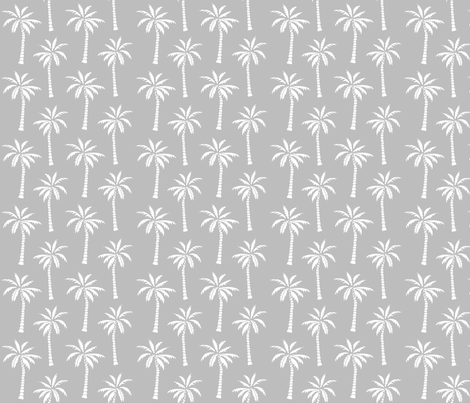 palm tree // simple black and white grey nursery palm print trendy kids summer print fabric by andrea_lauren on Spoonflower - custom fabric