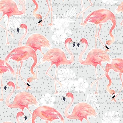 Tropicana Flamingo (grey)