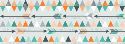 Arrows & triangles in teal