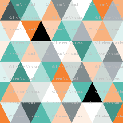 Triangles in teal