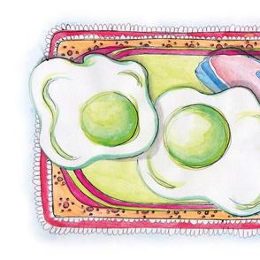 Green Eggs and Ham Tea Towel