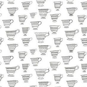 Teacups in Grey