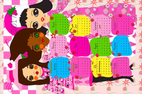 2017 tea towel calendar fabric by orangefancy on Spoonflower - custom fabric