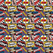 Modern Comic Book Superhero Pattern Small