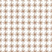 Brown/White Scribble Daisy pattern