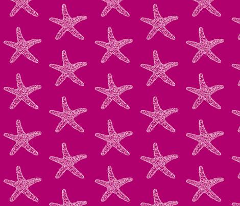 seastar on magenta fabric by dw77 on Spoonflower - custom fabric