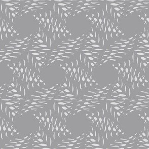 Ink Weave (Bone on Gray)
