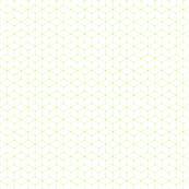 Geometric Cubes Outline - Chartreuse