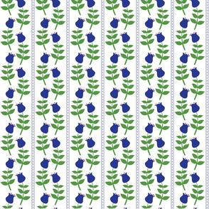 Vertical Retro Blue Tulips