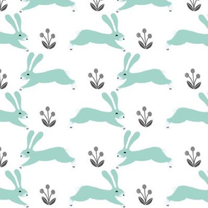 rabbit // spring bunny rabbit mint cute nursery baby