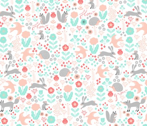 Wood_spring_coral_pink_green_shop_preview
