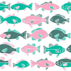 ocean fish // colorful kids gender neutral fishing marine life