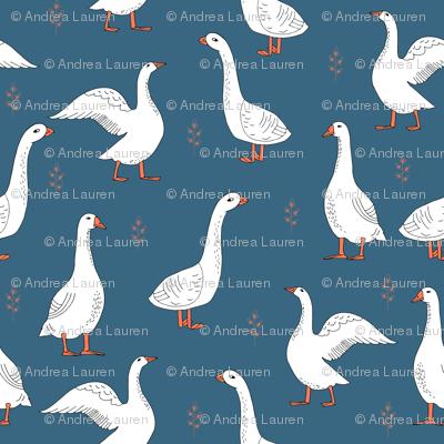 geese // farm anima bird nature kids geometric
