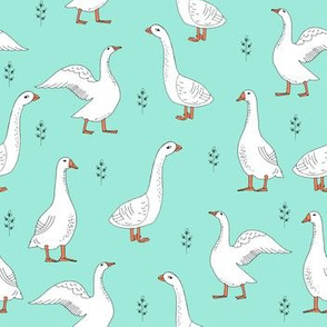 geese // hand drawn farm animal bird print gender neutral kids