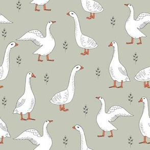 geese // grey gender neutral farm animals