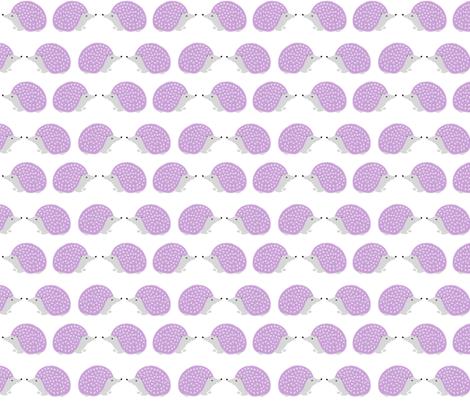 hedgehog // pastel purple nursery hedgehog cute animal print for baby girls nursery fabric by andrea_lauren on Spoonflower - custom fabric