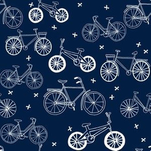 bicycle fabric wallpaper gift wrap Spoonflower