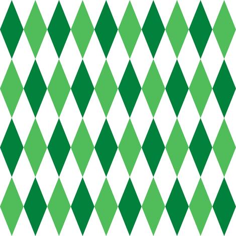 harlequin diamonds - Christmas green fabric by weavingmajor on Spoonflower - custom fabric