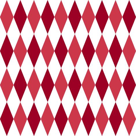 harlequin diamonds - Christmas red fabric by weavingmajor on Spoonflower - custom fabric