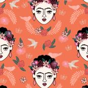frida kahlo // floral boho kids feminist artist