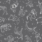 Constellations // geometric animal star nursery