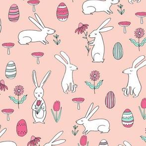 easter bunny // spring floral easter egg pastel pink