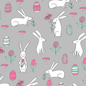 easter bunny // rabbit spring andrea lauren grey pink