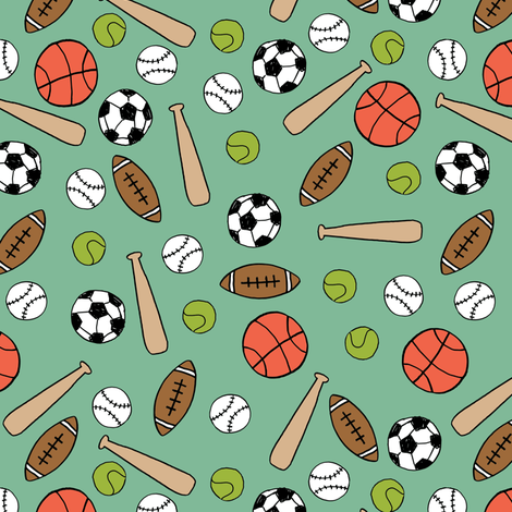 sports // playground team sport game basketball boys girls soccer fabric by andrea_lauren on Spoonflower - custom fabric