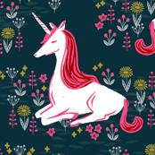 unicorn // navy unicorn nursery baby