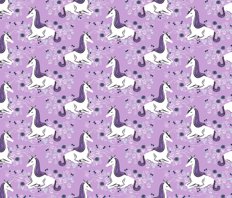 unicorn // girly lilac pastel purple leggigngs fabric by andrea_lauren on Spoonflower - custom fabric