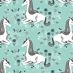 unicorn // pastel mint cute gendre neutral kids