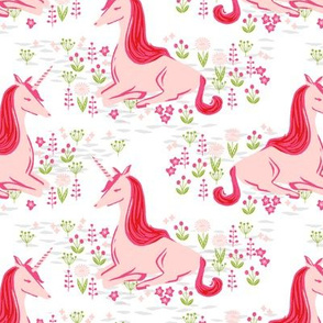 Unicorn // happy bright pink girly nursery