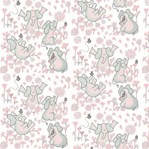 Ellies Playground Baby Pink and Gray