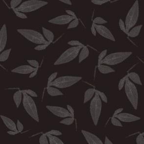 Faded Leaves on Aubergine