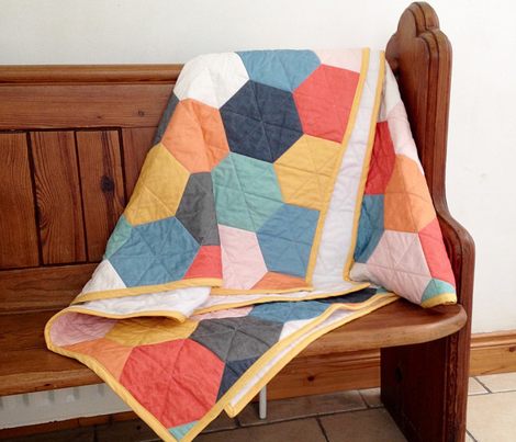 Hexagons wholecloth
