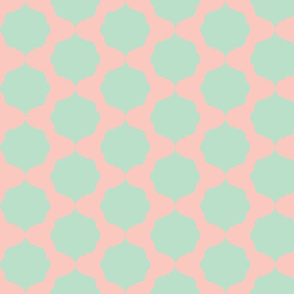Hexafoil Mint and Coral