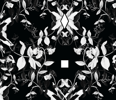 Black and White Peas fabric by lascarlatte on Spoonflower - custom fabric